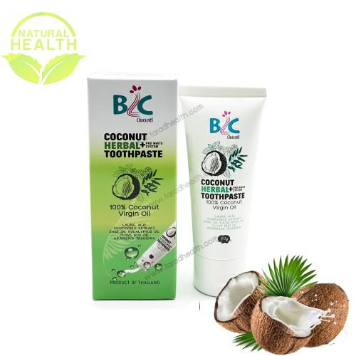 ยาสีฟันน้ำมันมะพร้าว Coconut Herbal+ 50 g