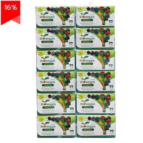ผักอัดเม็ดวีไบโอเวกกี้ 30 ซอง x 12 กล่อง