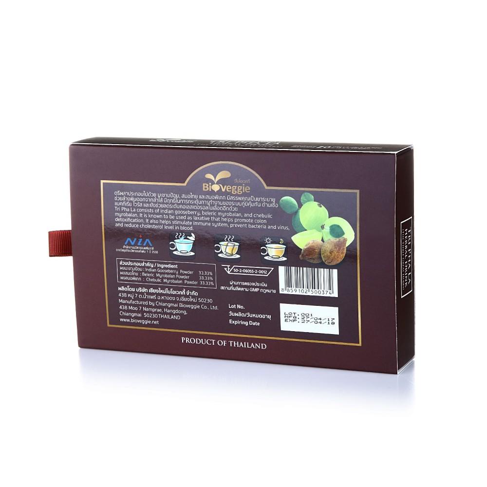 เครื่องดื่มชาสมุนไพร BioVeggie สูตรตรีผลา