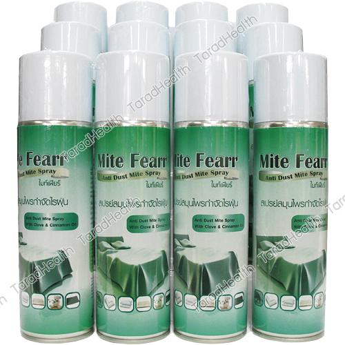 สเปรย์กำจัดไรฝุ่น ไมท์เฟียร์ (สวทช.) กลิ่นยูคาลิปตัส 250 ml x 12 กระป๋อง